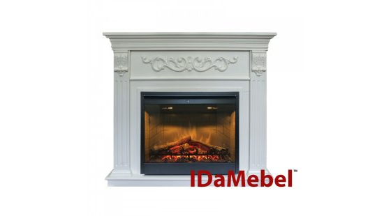 Каминокомплект IDaMebel Marseille DF2608-INT Белый Ясень