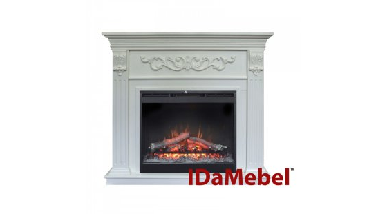 Каминокомплект IDaMebel Marseille DF2624L-INT Белый Ясень